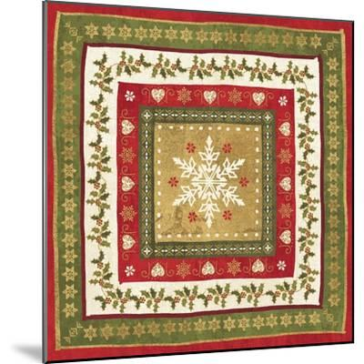 Simply Christmas Tiles I-Veronique Charron-Mounted Art Print