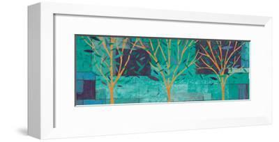 Watercolor Forest III Peacock-Veronique Charron-Framed Art Print