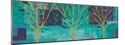 Watercolor Forest III Peacock-Veronique Charron-Mounted Art Print
