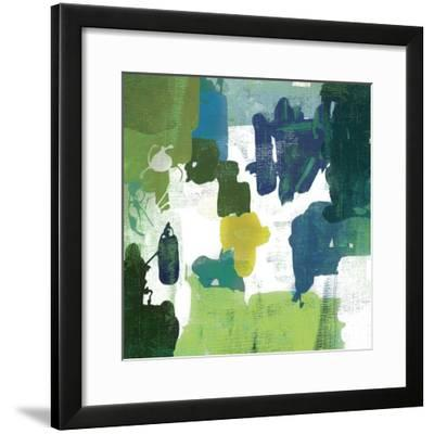 Block Paint I Green Version-PI Studio-Framed Art Print