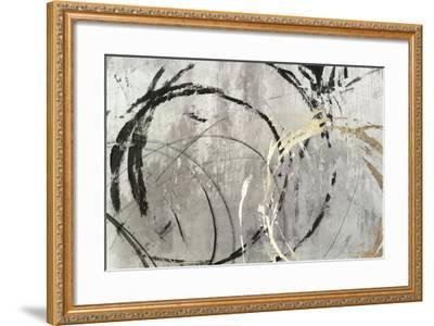 Grey Abstract I-PI Studio-Framed Art Print