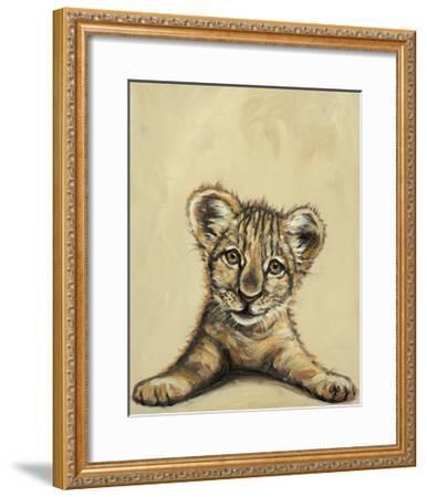 Lion Eyes-Louise Brown-Framed Art Print