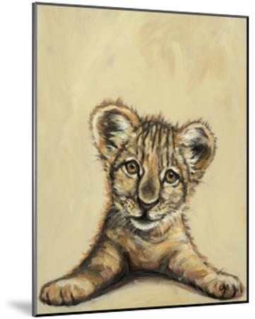 Lion Eyes-Louise Brown-Mounted Art Print