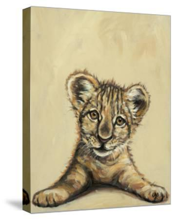 Lion Eyes-Louise Brown-Stretched Canvas Print