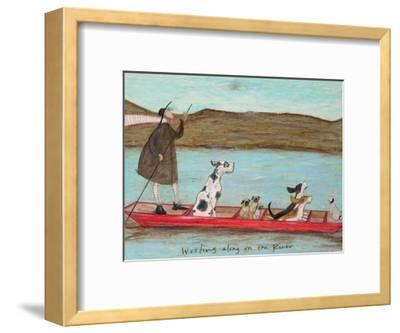 Woofing along on the River-Sam Toft-Framed Premium Giclee Print