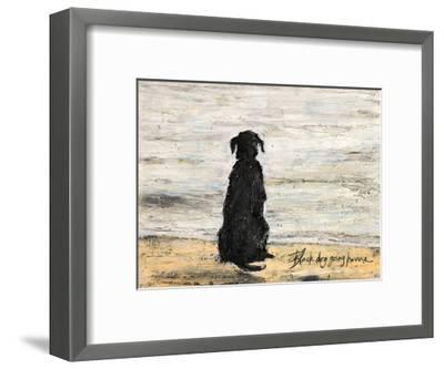 Black Dog Going Home-Sam Toft-Framed Art Print