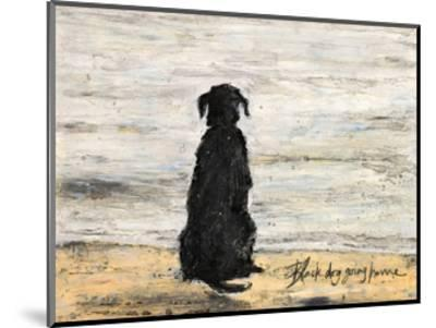 Black Dog Going Home-Sam Toft-Mounted Art Print