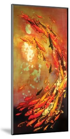 Koi on Violet-Lily Greenwood-Mounted Art Print