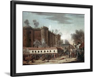 Storming of the Bastille, 14th July 1789-French School-Framed Giclee Print