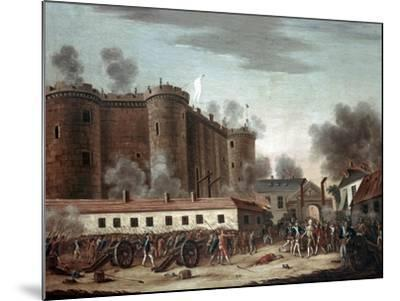 Storming of the Bastille, 14th July 1789-French School-Mounted Giclee Print