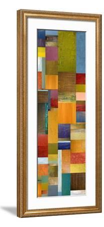 Color Panels with Olives Stripes-Michelle Calkins-Framed Art Print