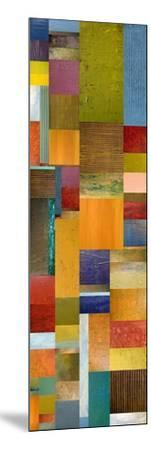 Color Panels with Olives Stripes-Michelle Calkins-Mounted Art Print