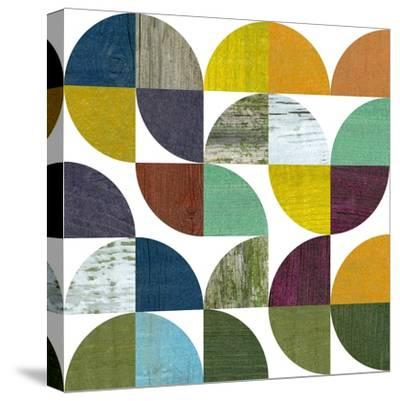 Rustic Rounds 3.0-Michelle Calkins-Stretched Canvas Print