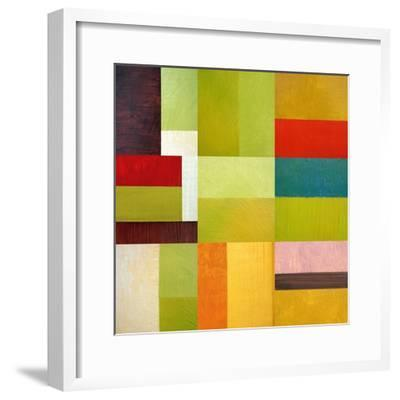 Color Study Abstract 1-Michelle Calkins-Framed Art Print