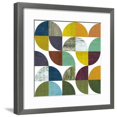 Rustic Rounds 3.0-Michelle Calkins-Framed Art Print