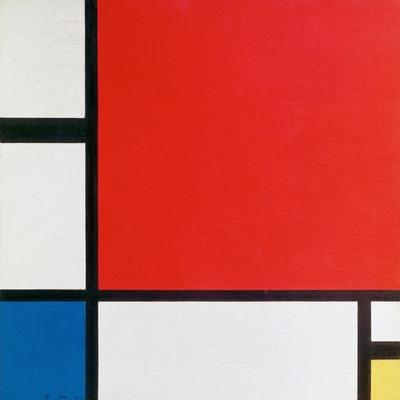Composition II in Red, Blue, and Yellow-Piet Mondrian-Art Print