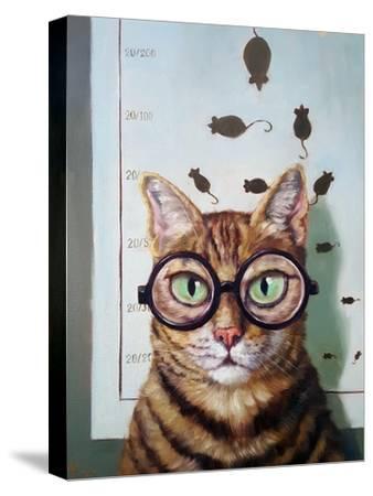 Feline Eye Exam-Lucia Heffernan-Stretched Canvas Print