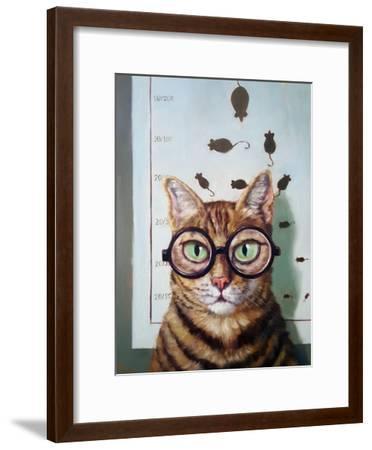 Feline Eye Exam-Lucia Heffernan-Framed Art Print