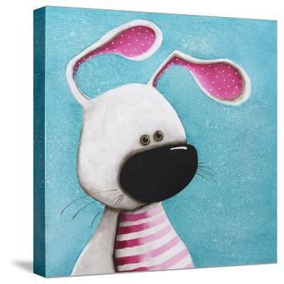 The Pink Bunny-Lucia Stewart-Stretched Canvas Print