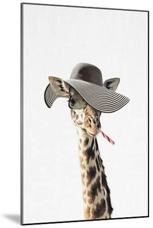 Giraffe Dressed in a Hat-Tai Prints-Mounted Art Print