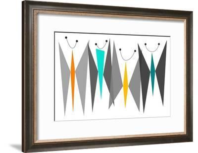 Butterflies - Grays-Tonya Newton-Framed Art Print
