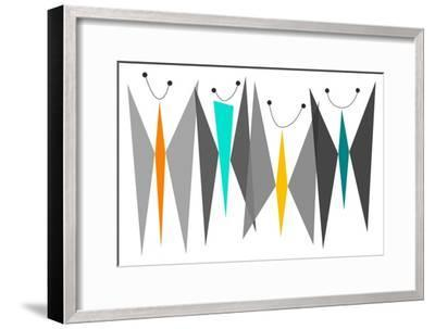 Butterflies - Grays-Tonya Newton-Framed Art Print