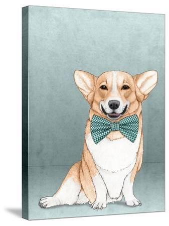 Corgi Dog-Barruf-Stretched Canvas Print