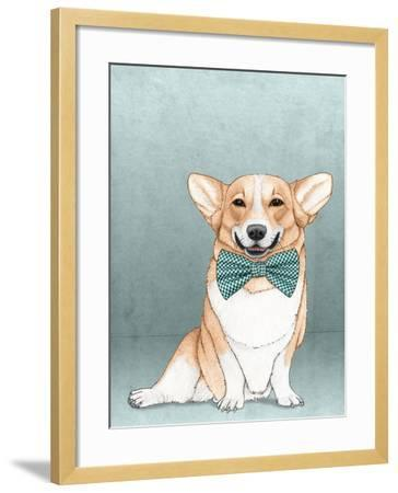 Corgi Dog-Barruf-Framed Art Print