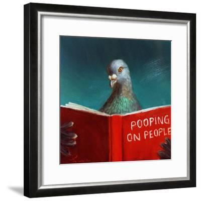 Pooping on People-Lucia Heffernan-Framed Art Print
