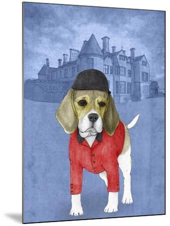 Beagle with Beaulieu Palace-Barruf-Mounted Art Print
