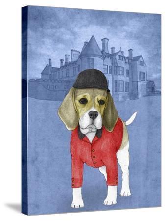 Beagle with Beaulieu Palace-Barruf-Stretched Canvas Print