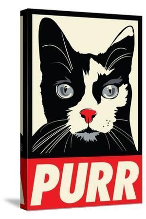 Purr Propaganda-Rachel Caldwell-Stretched Canvas Print