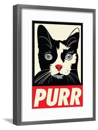 Purr Propaganda-Rachel Caldwell-Framed Art Print