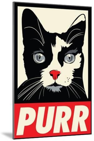 Purr Propaganda-Rachel Caldwell-Mounted Art Print