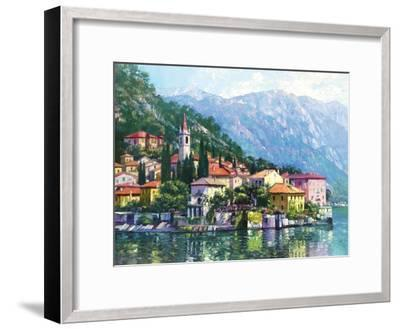 Reflections of Lake Como-Howard Behrens-Framed Premium Giclee Print