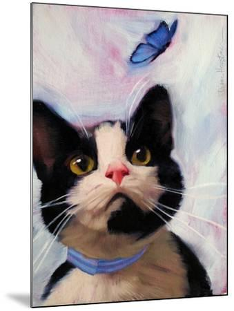 Cat and Butterfly-Diane Hoeptner-Mounted Art Print