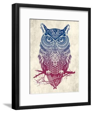 Warrior Owl-Rachel Caldwell-Framed Art Print