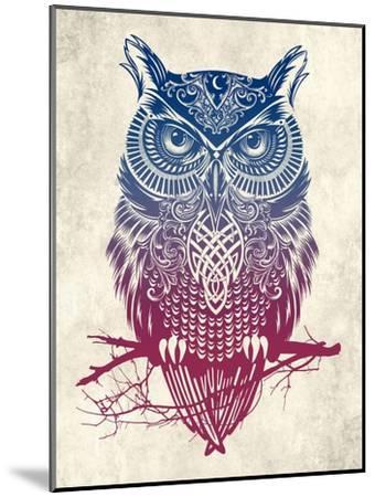 Warrior Owl-Rachel Caldwell-Mounted Art Print