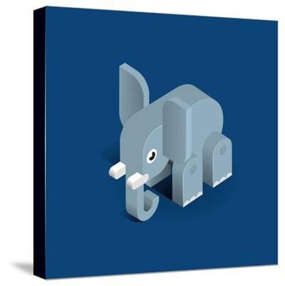 Elephant-Bo Virkelyst Jensen-Stretched Canvas Print