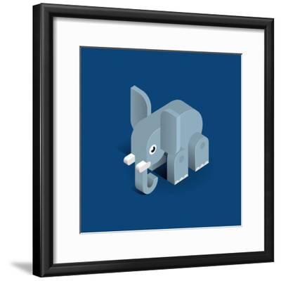 Elephant-Bo Virkelyst Jensen-Framed Art Print