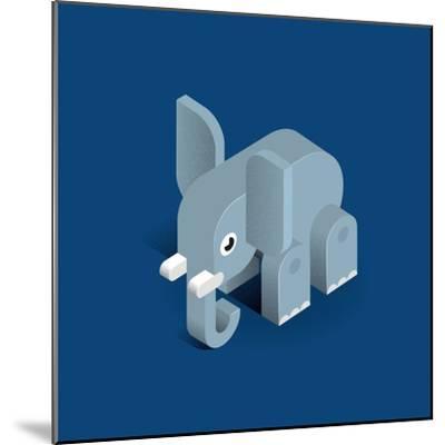 Elephant-Bo Virkelyst Jensen-Mounted Art Print
