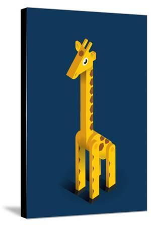 Giraffe-Bo Virkelyst Jensen-Stretched Canvas Print