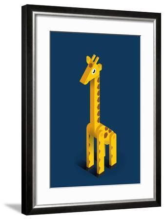 Giraffe-Bo Virkelyst Jensen-Framed Art Print
