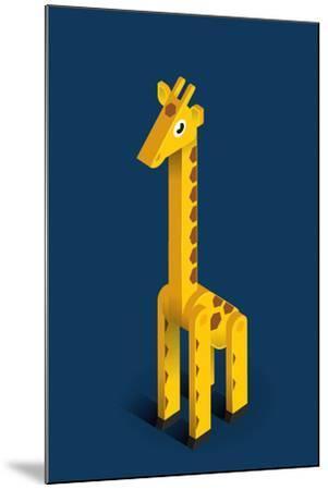 Giraffe-Bo Virkelyst Jensen-Mounted Art Print