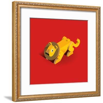 Lion-Bo Virkelyst Jensen-Framed Art Print