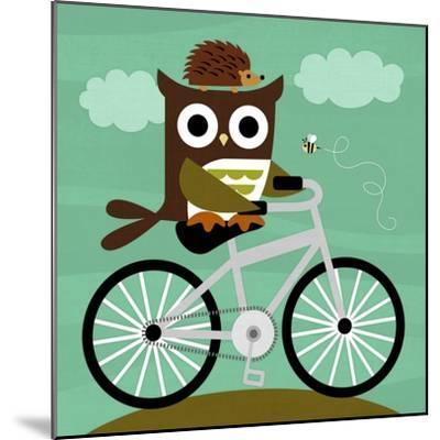 Owl and Hedgehog on Bicycle-Nancy Lee-Mounted Art Print