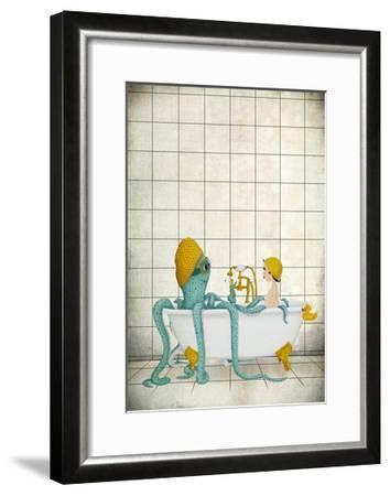 Bath Time-Maja Lindberg-Framed Art Print