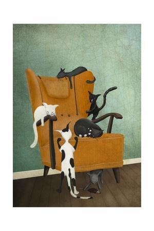 Catlife-Maja Lindberg-Art Print
