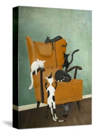 Catlife-Maja Lindberg-Stretched Canvas Print