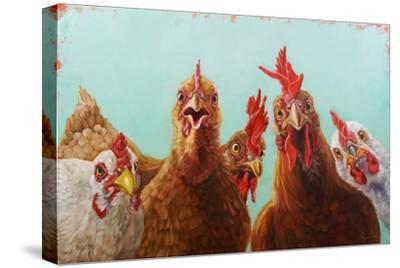 Chicken for Dinner-Lucia Heffernan-Stretched Canvas Print
